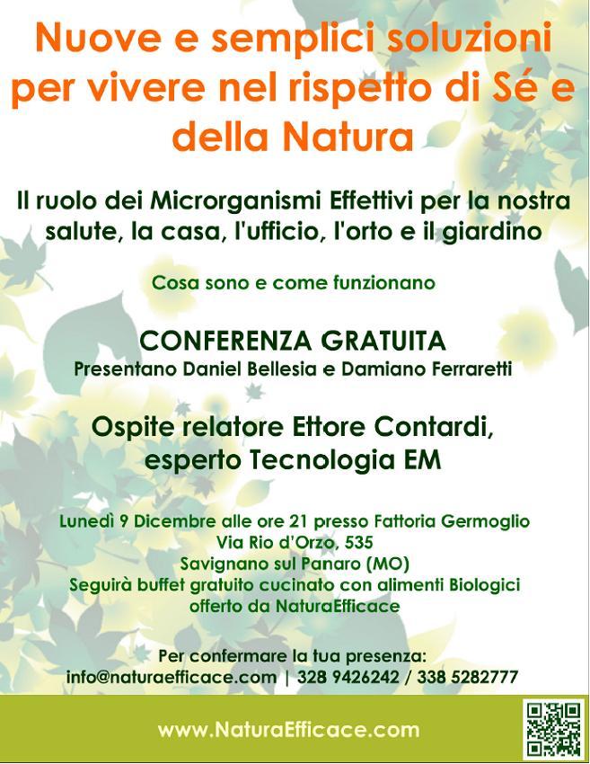 Conferenza microrganismi effettivi 9 dicembre