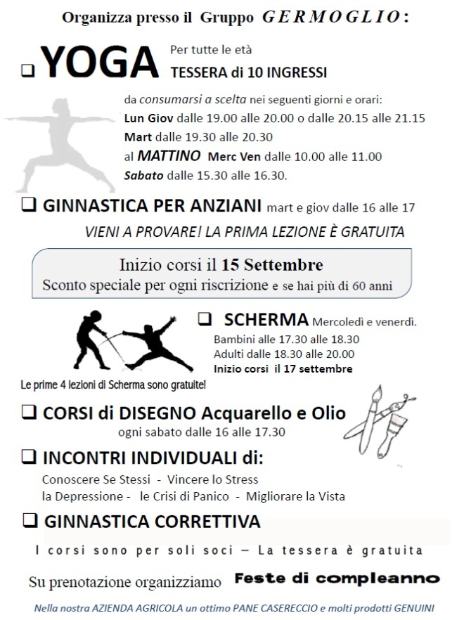 corsi Germoglio 2014