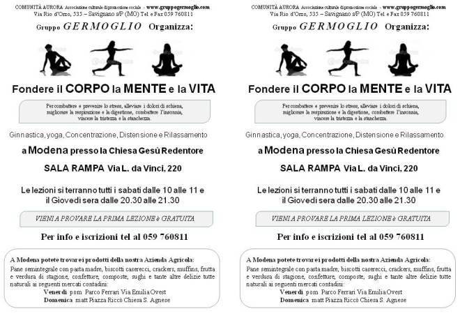 Pubblicità corsi Modena